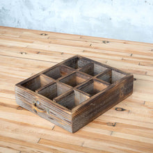 Load image into Gallery viewer, Reclaimed Wood Divided Drawer Box