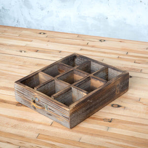 Reclaimed Wood Divided Drawer Box