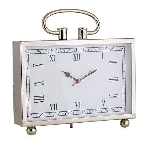 Large Stainless Steel Clock