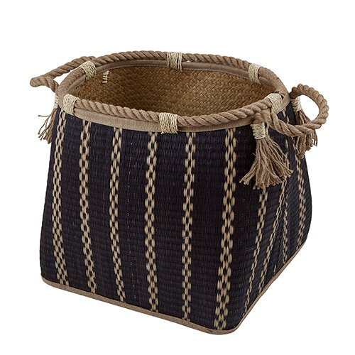 Black Stripe Basket - Large