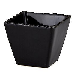 Small Square Pot - Black