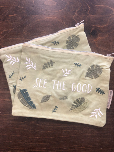 Zipper Pouch See the Good