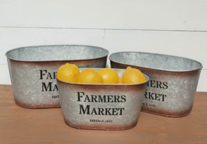 Farmers Market Oval Container - Large