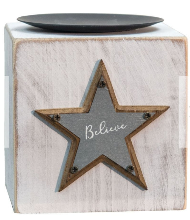 Cube Candleholder Believe