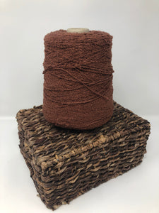 Vintage Spool with Yarn Rust