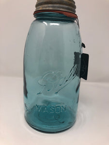 Mason Jar Blue - Half Gallon