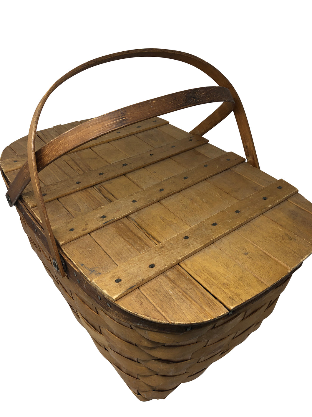 Woven Redman Picnic Basket with Handles