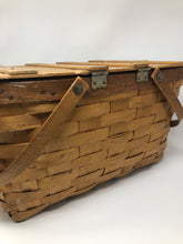 Load image into Gallery viewer, Woven Redman Picnic Basket with Handles