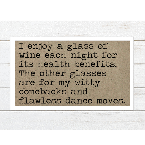 Enjoy a Glass of Wine -  Magnet