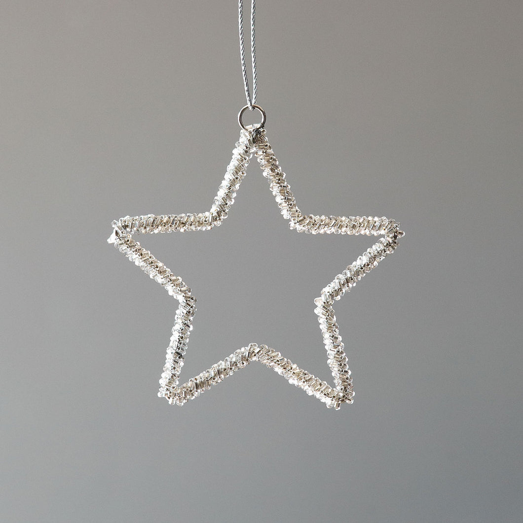 Glass Beaded Star Ornament, Small
