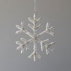 Glass Beaded Snowflake Ornament, Small