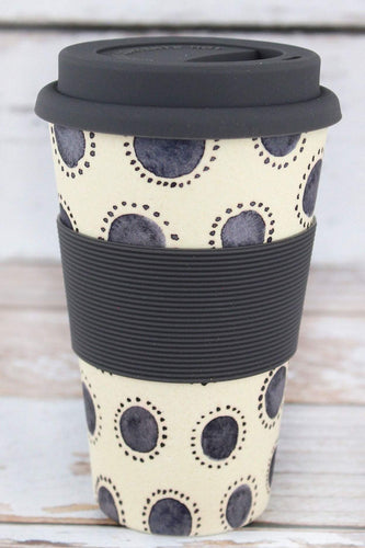 Indigo Dots Bamboo Travel Cup