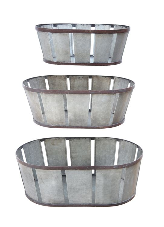 Baskets with Banding (Large)