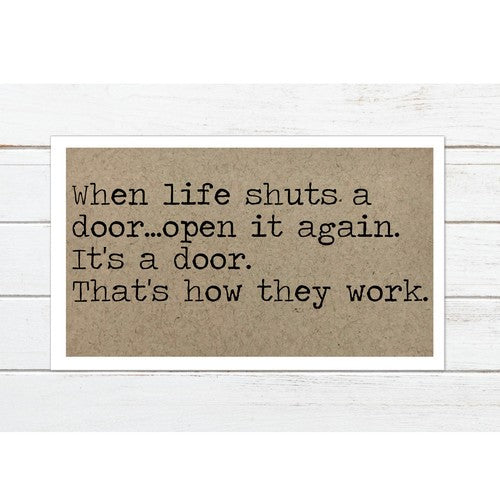 When Life Shuts a Door Magnet