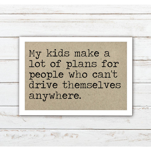 Kids Make Plans - Aluminum Tile