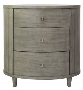 Grey Wash Oval Chest