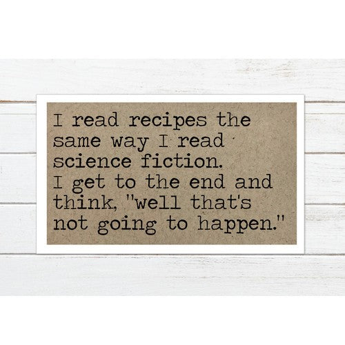 I read Recipes Magnet