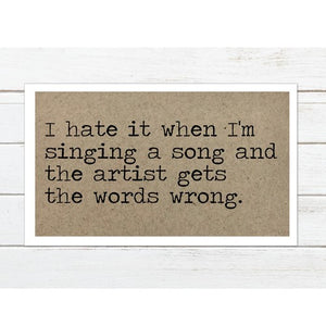 Singing a Song Magnet