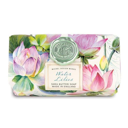Water Lilies Large Bath Soap Bar