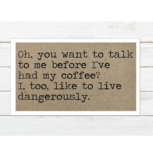 Talk to Me Before Coffee Magnet