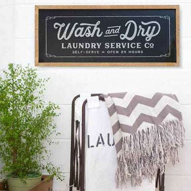 Wash and Dry Chalkboard Inspired Sign