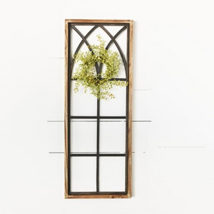 "32"" Tin and Wood Window Frame"