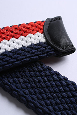 Reversible Tri-Color Braided Belt