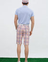 Men's Shorts, in beige, and all-over plaid print