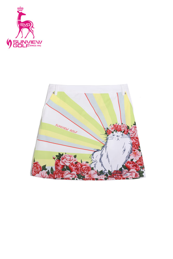 Girl's Cat Graffiti Skirt