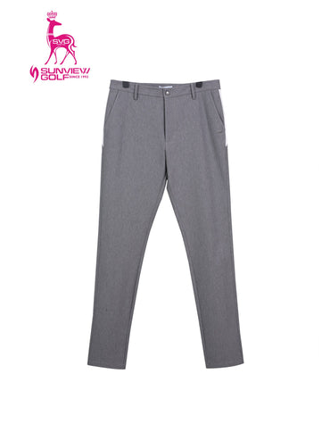 Men's slim stretch pants, in gray.