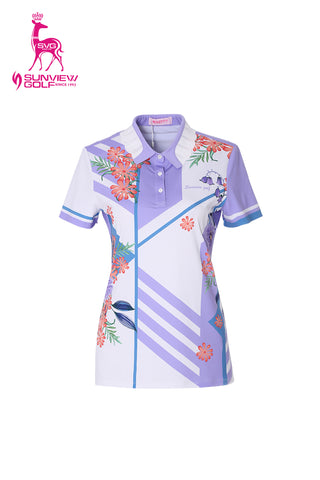 Ivy Manor Asymmetric Flower Polo