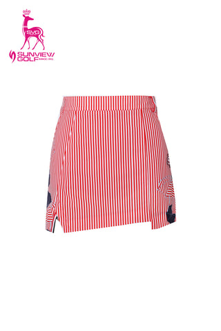 Heidelberg Stripe Asymmetric Skirt