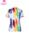 Rainbow Tie-Neck Shirt