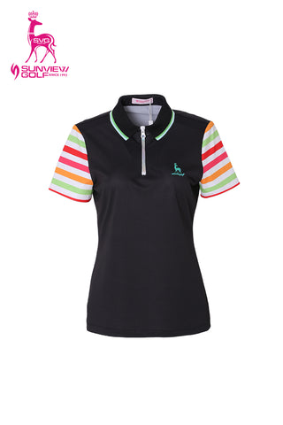 Rainbow Zipped Polo