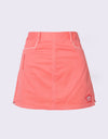 Girl's A-Line skirt,  in orange, with uneven hem.