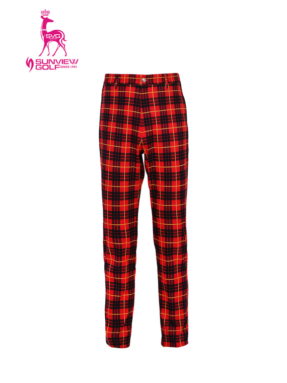 Plaid Slim Pants