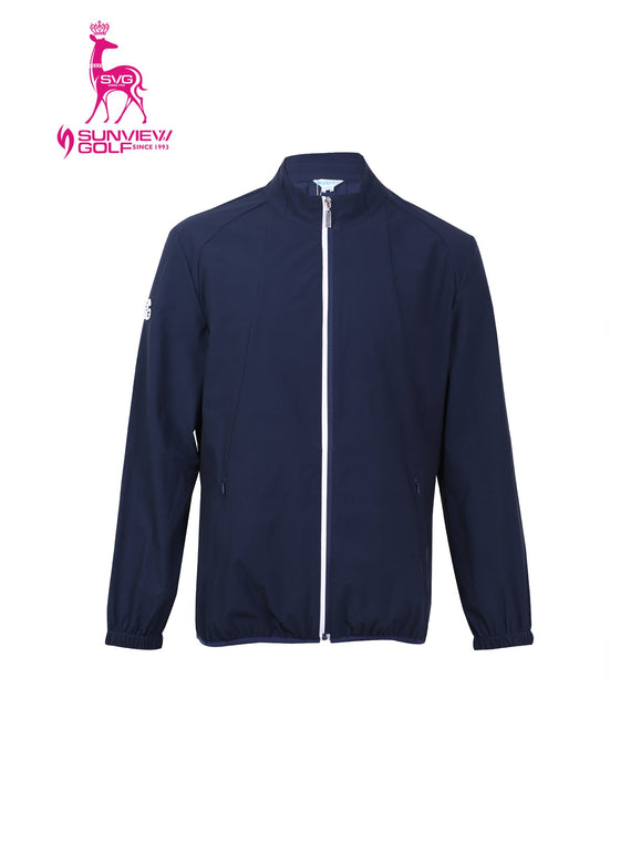 Men's zip-up jacket, in navy.