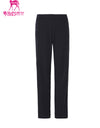 Men's straight pants, in black.