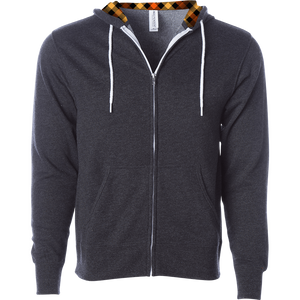 Independent Trading Contrast Draw Cord Full Zip (AFX90UNZ)