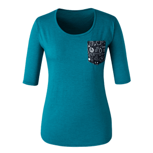 Ladies Triblend Scoop Neck 1/2 Sleeve (DS6756)