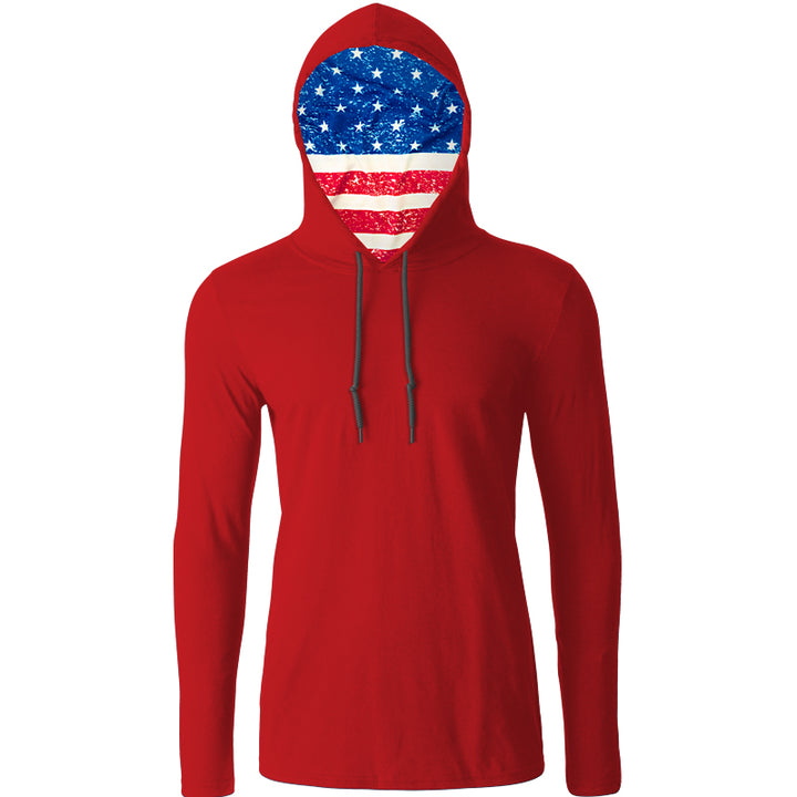 Patriotic Flag Hooded Tee