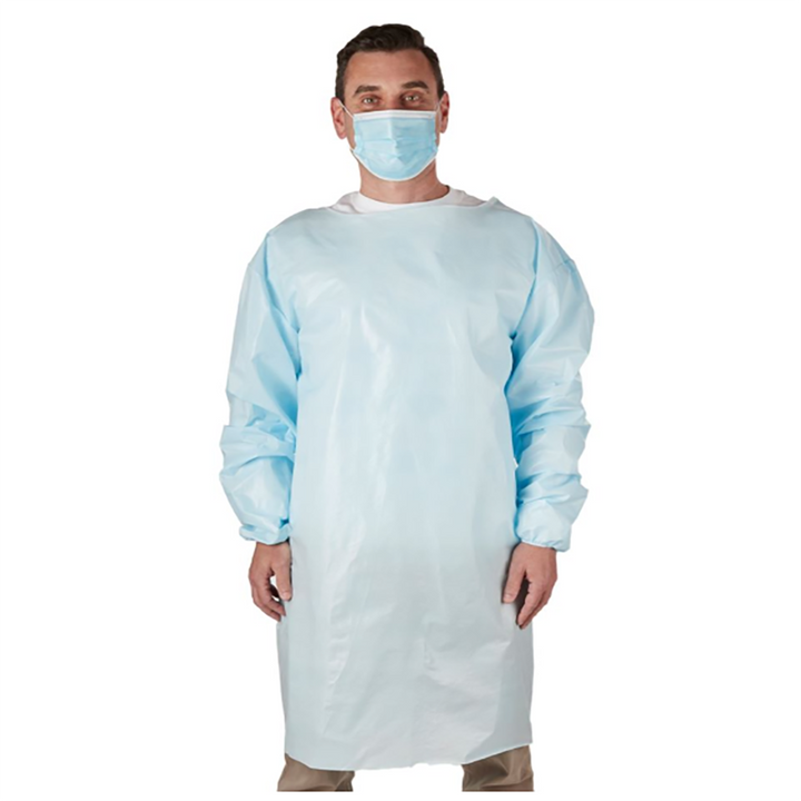 Made in USA PPE Isolation Gown, Level 1-2, 50 pack (DHG100)