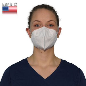 Disposable KN95 3-Ply Face Mask Made in USA FMKN95