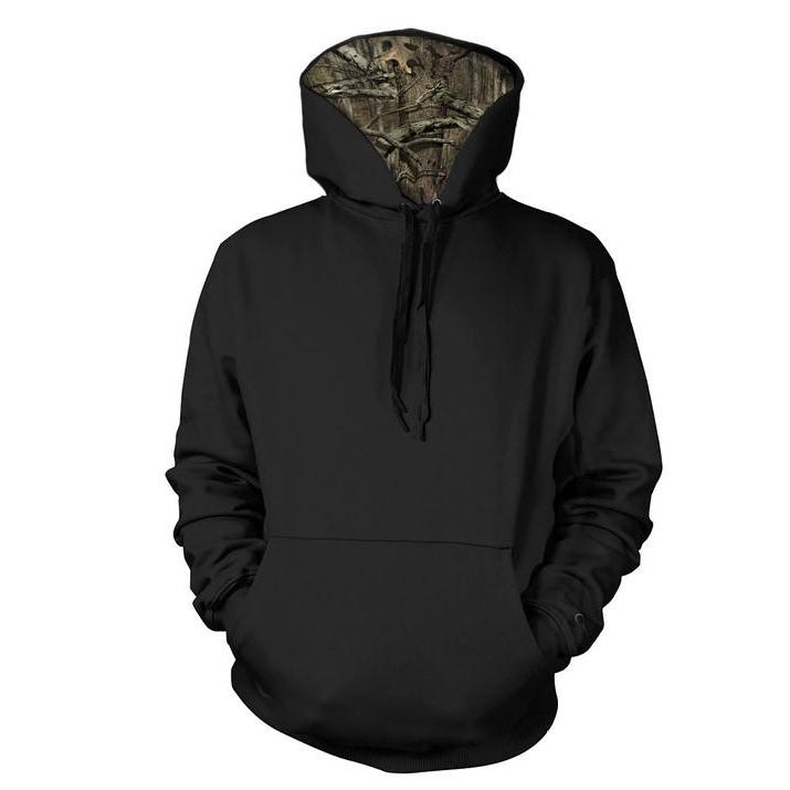 Pullover Sweatshirt with Mossy Oak Hood (MO185)
