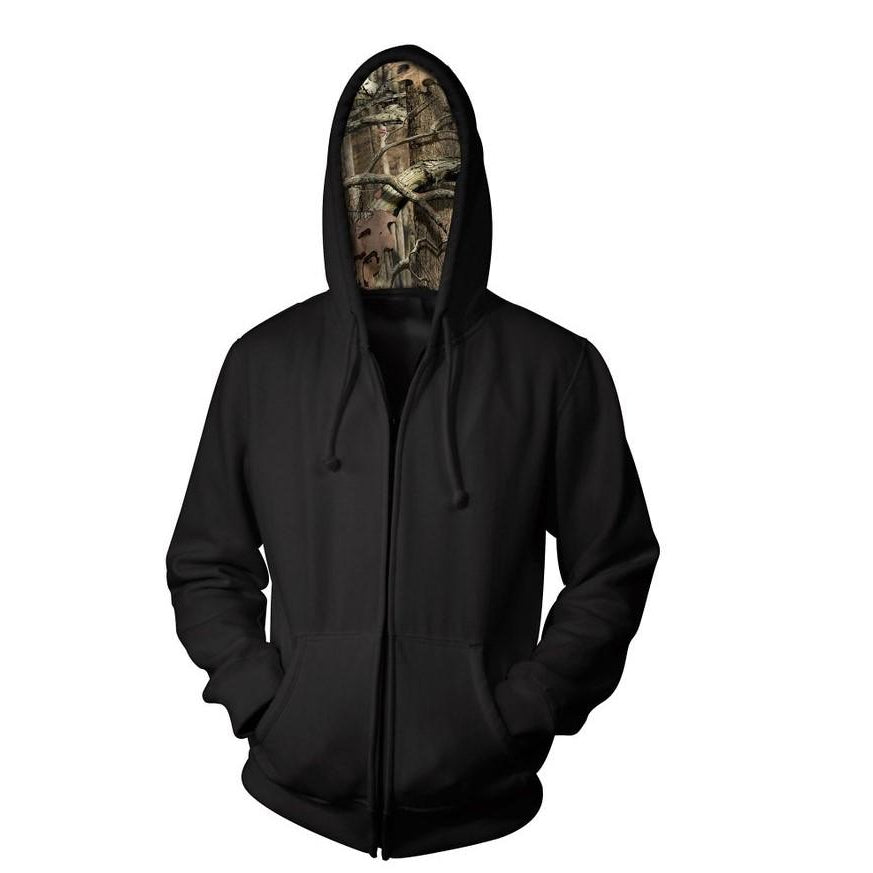 Full Zip Sweatshirt with Mossy Oak Hood (MO186)