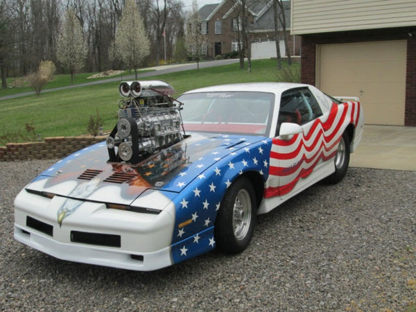 1985 Pontiac Firebird Trans AM Pro Street with Blower American Flag Graphics