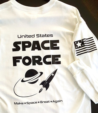 Heat Press Vinyl Printed T-Shirt Space Force www.GraphicsPlus123.com