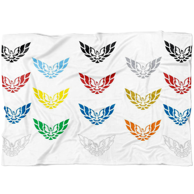 Firebird Trans Am Screaming Chicken Phoenix Rising Flock Fleece Blanket Multi Colors - Small, Medium or Large Sizes