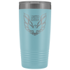 Trans Am Limited Edition Screaming Chicken Etched 20 Ounce Vacuum Tumbler - Light Blue - Multiple Color Options