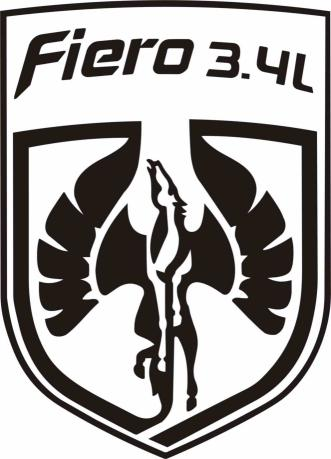 Pontiac Fiero 3.4L Decal Pegasus